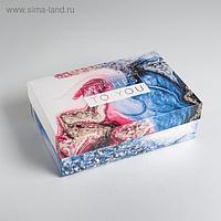 Коробка складная «Мрамор», 30 × 20 × 9 см