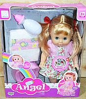 Упаковка повреждена!!! 9007 Кукла Angel пупс с горшком и другими аксессуарами 33*28, фото 1