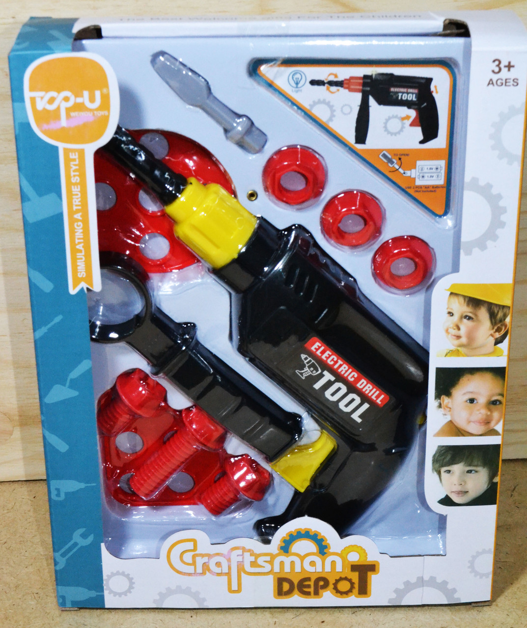 Упаковка повреждена!!! TP315 набор инструментов с дрелью Craftsman depot 28*22см