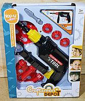 Упаковка повреждена!!! TP315 набор инструментов с дрелью Craftsman depot 28*22см, фото 1