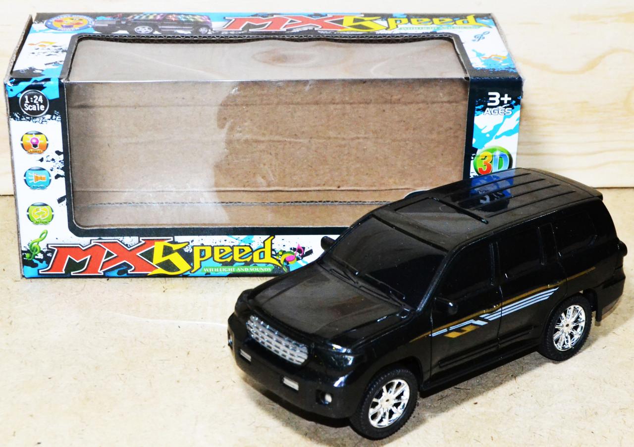 Упаковка повреждена!!! 116 Машина Speed Ленд Крузер звук/свет на батарейках 23*10