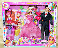 Упаковка помята!!! 2099 Куклы семья с 2 детьми Modern Time с аксессуарами  38*32