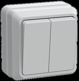 Выключатель ВС20-2-0-ОБ 2кл 10А откр.уст. ОКТАВА (белый) ИЭК