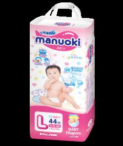 Подгузники Manuoki L (9-14kg) 44 штуки