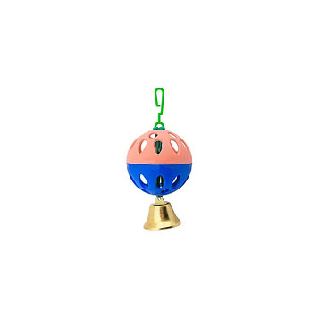 Игрушка для птиц шарик с колокольчиком