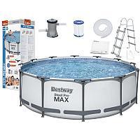 Каркасный бассейн Bestway 366х100см с картриджным фильтром и лестницей