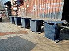 Мусорный контейнер 0,75 куб с крышкой на ножках, фото 3