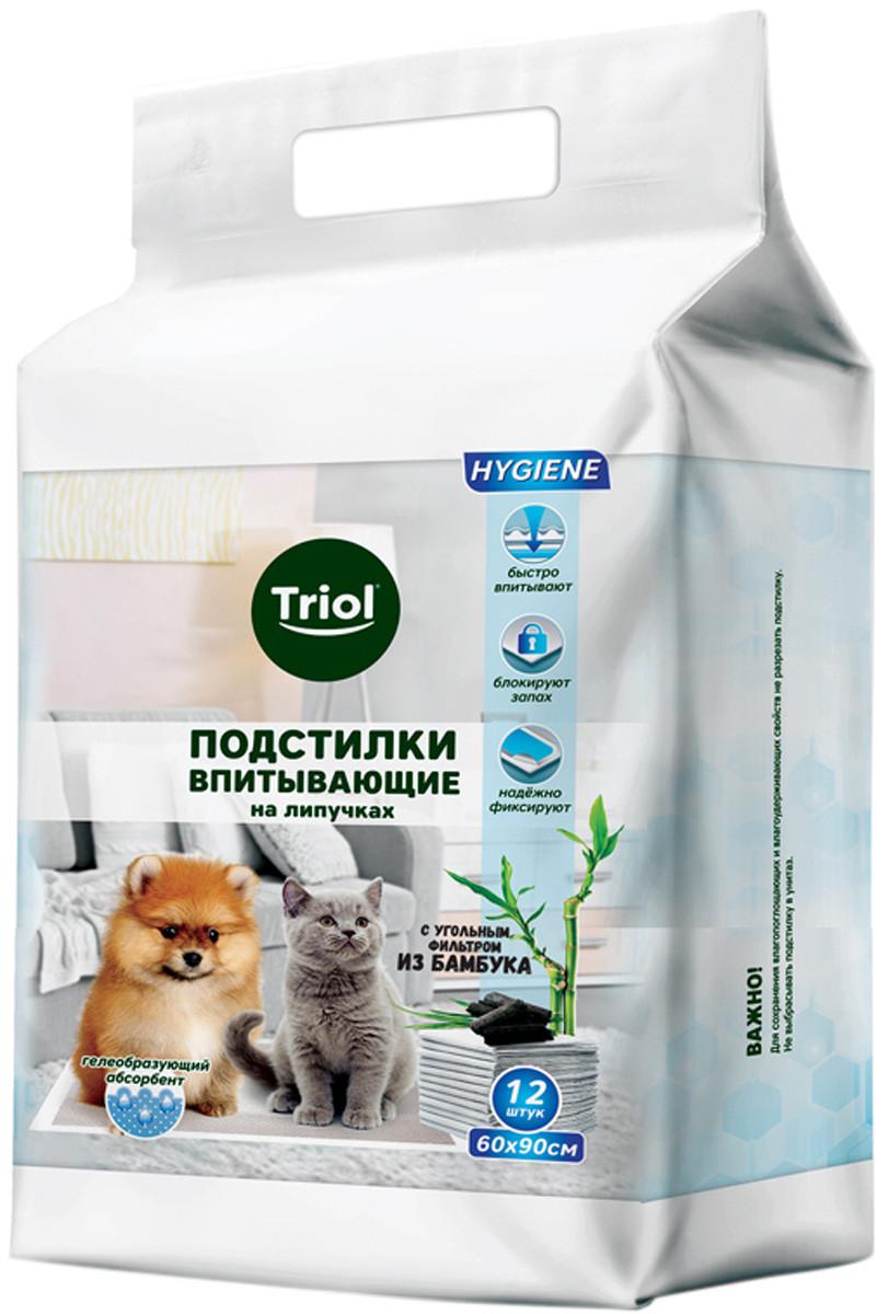 Пеленки для животных на липучках Triol, 60*90 см
