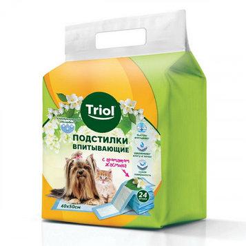 Пеленки для животных Triol с ароматом жасмина, 40*50 см
