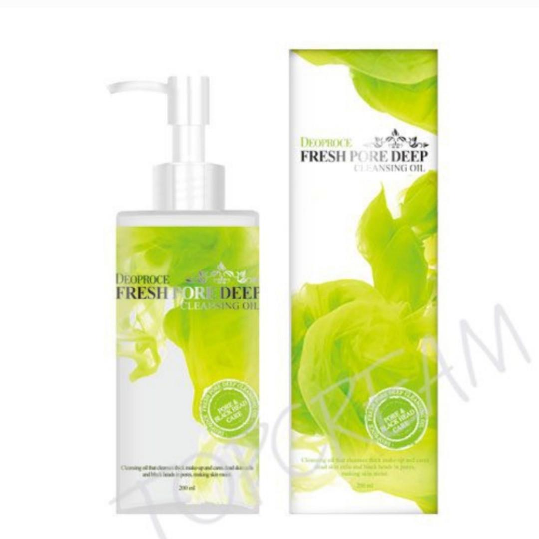 Гидрофильное масло для глубокого очищения пор DEOPROCE Cleansing Oil Fresh Pore Deep Зелёный чай 200 мл