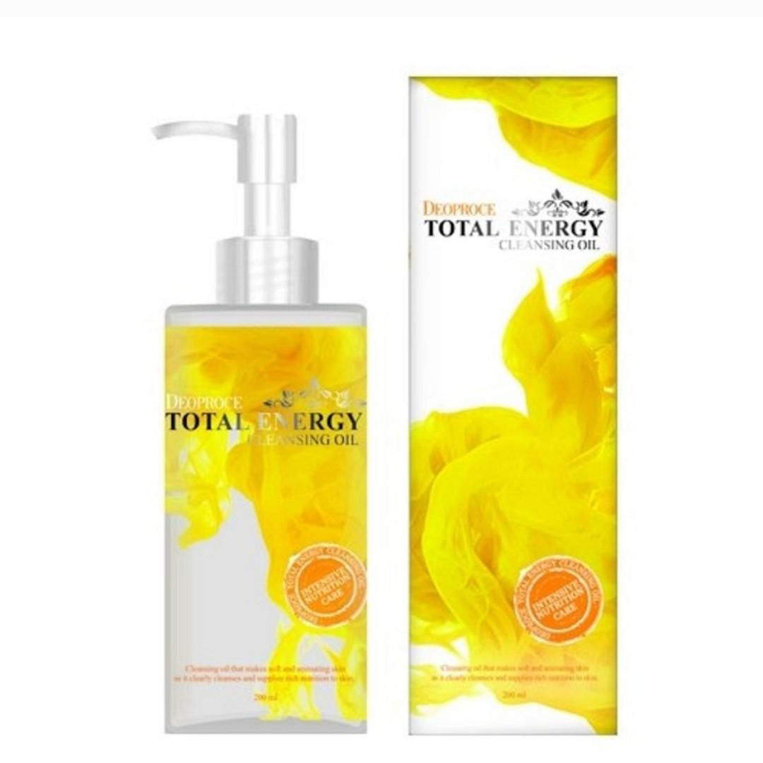 Масло очищающее для лица оливковое DEOPROCE Cleansing Oil Total Energy  200ml.