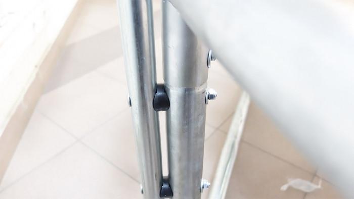 Батут ART.FiT 8ft с защитной сеткой и лестницей, 3 ноги 244 см - фото 8