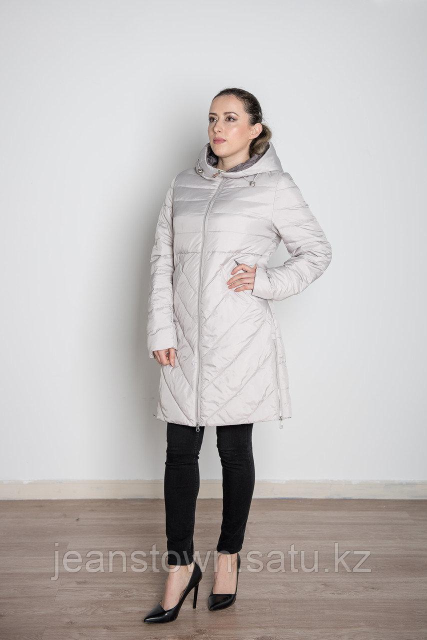 Куртка женская демисезонная  Miegofce длинная бежевая