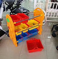Детская пластиковая этажерка для игрушек QIANGCHI