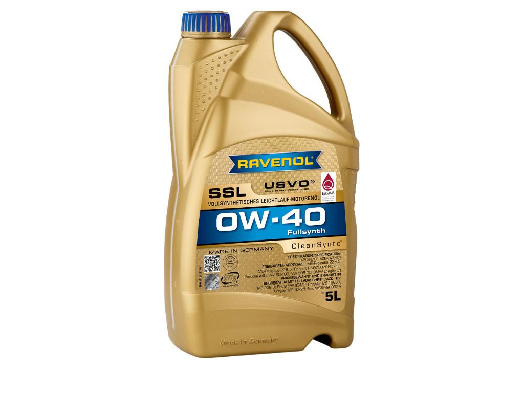 Масло моторное RAVENOL SSL SAE 0W-40, 5 литров