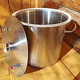 Перегонный куб 12 литров с крышкой , прокладкой и хомутом в комплекте. С ввареным штуцером для слива барды 1/2, фото 2