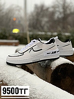 Кеды Nike Af 1 low бел чер пятка