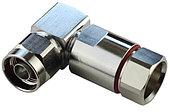 Коннектор соединитель угловой N Male for 1/2'' для кабеля 1/2''