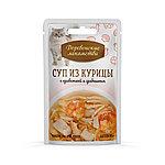 Суп из курицы с креветкой и гребешком, Деревенские лакомства