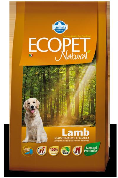 Adult Medium для средних пород с ягненком, Ecopet, уп.2,5 кг.