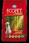 Adult Medium для средних пород с курицей, Ecopet, уп.12 кг.