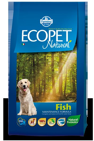 Adult Medium для средних пород с рыбой, Ecopet, уп.12 кг.