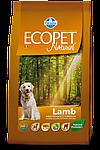 Adult Medium для средних пород с ягненком, Ecopet, уп.12 кг.