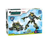 Игровой конструктор Ausini 25612 Роботы Военный грузовик 325 деталей Цветная коробка