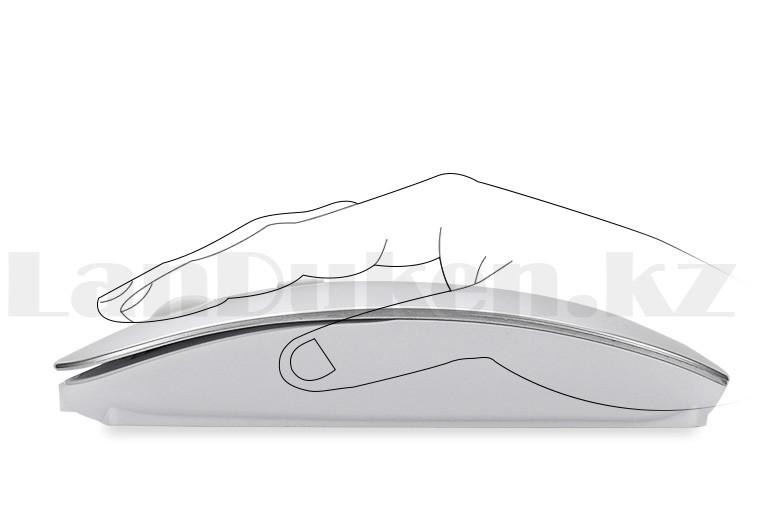 Компьютерная мышь беспроводная оптическая тонкая 1600 dpi USB Mini Good Wireless Mouse зеленая - фото 3