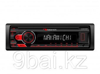 Nakamichi NQ511BR/ 1 din медиа-ресивер, USB, AUX, ВТ, ПДУ, 4*50 Вт, красн./