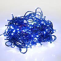 """Световая гирлянда """"Нить"""" (""""Твинкл лайт"""") - 10 метров, 80 лампочек, синий свет, мерцающая"""
