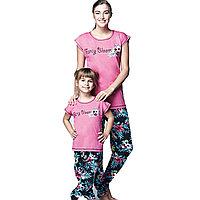 Пижама детская девичья 4/104 см-Розовый