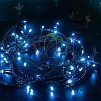 """LED гирлянда """"Нить"""" (""""Твинкл лайт"""") - 15 метров, 120 лампочек, синий свет, мерцающая"""