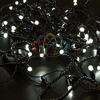 """Уличная гирлянда """"Нить"""" - 10 метров, 100 LED лампочек, белый свет, светит постоянно"""