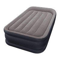 Надувная кровать Intex 64132 99х191х42см с подголовником, встр.нас. 220В