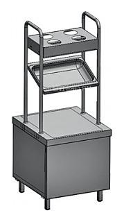Прилавок для подносов и столовых приборов Rada ПП-1-6/7С