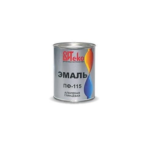 Эмаль ПФ-115   0,8 кг белая, красная, желтая, бирюзовая, салатная, кремовая, шоколад
