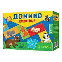 """Домино """"Животные"""" 28 фишек (двусторонние), фото 1"""