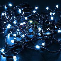 """Уличная гирлянда """"Нить"""" - 10 метров, 100 LED лампочек, синий свет, светит постоянно"""