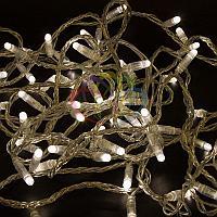 """Уличная гирлянда """"Нить"""" - 10 метров, 100 LED лампочек, теплый-белый свет, светит постоянно"""