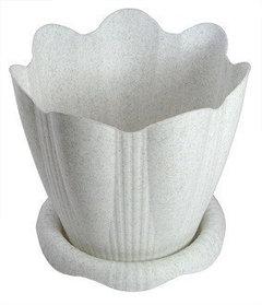Гаршок Эдельвейс 1,5л пластик мраморный