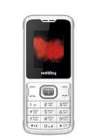 Мобильный телефон Nobby 110 White/Gray (Камера)
