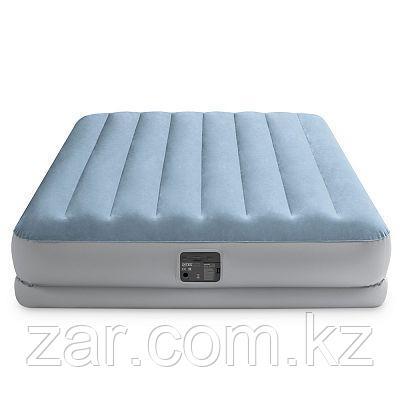 Надувная кровать Intex 64168 152х203х36смс подголовником, встр.нас. 220В