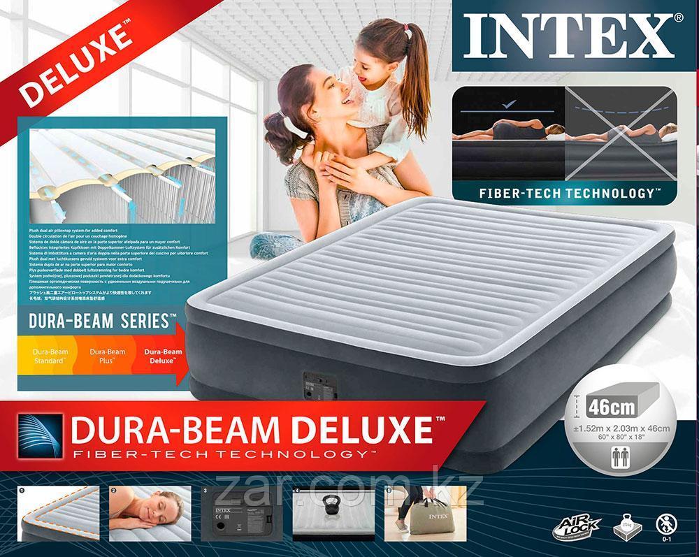 Надувная кровать Intex 64414 152х203х46см встр.нас. 220В