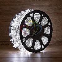 """Уличная LED гирлянда """"Клип-лайт"""" - 100 метров, 665 лампочек, белый свет, постоянное свечение"""
