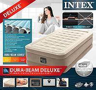 Надувная кровать Intex 64426  99х191х46см встр.нас. 220В, фото 1