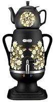 Электрочайник-самовар Добрыня 4.0 л DO-412 (черный) + керамический заварочный чайник 1.0л