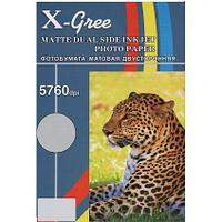 Фотобумага X-GREE A4/50/300г Матовая Двухсторонняя MD300-A4-50(16)