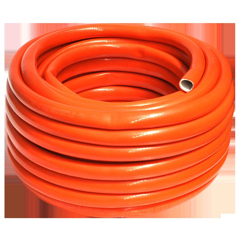 Шланг поливочный 2мм рулон 25 м   Янтарь оранжевый