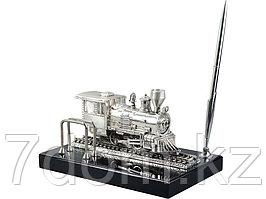 Настольный прибор Железнодорожный, серебристый/черный